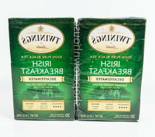 Twinings Decaffeinated Irish Breakfast Tea, 20 ea
