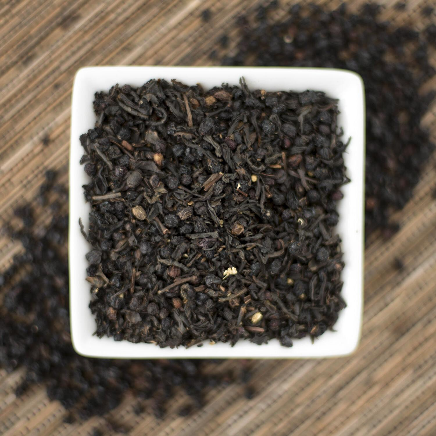 Elder berry Black Tea Organic  Choice of Loose leaf or Tea b