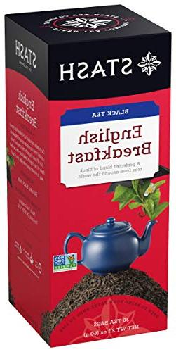 Stash Tea English Breakfast Black Tea 30 Count Tea Bags in F