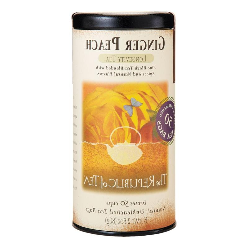The Republic of Tea Ginger Peach Black, Caffeinated