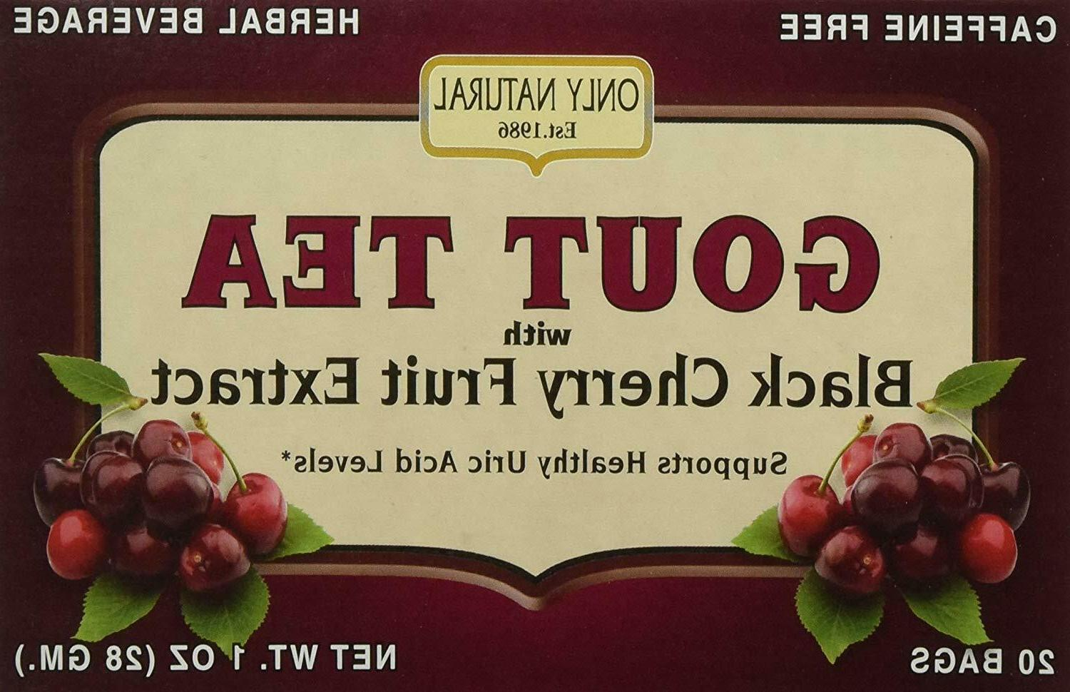 gout tea black cherry fruit