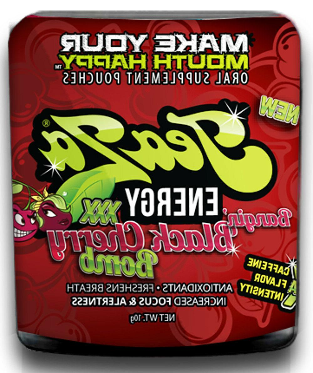 herbal energy pouch bangin black cherry 1ct