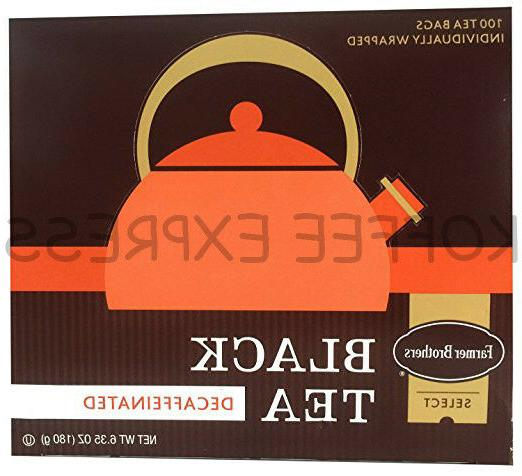 hot tea black tea decaf 100 bags