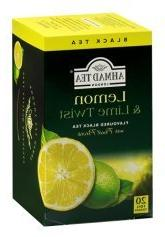 2-pack Lemon & Lime Twist Black Tea - 20 Foil Bags Each