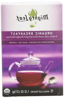 Mighty Leaf Black Tea, Organic Breakfast, 15 Pouches Pack of