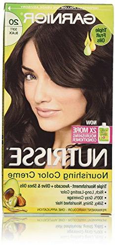 Garnier Nutrisse Nourishing Color Creme, 20 Soft Black , 3-P