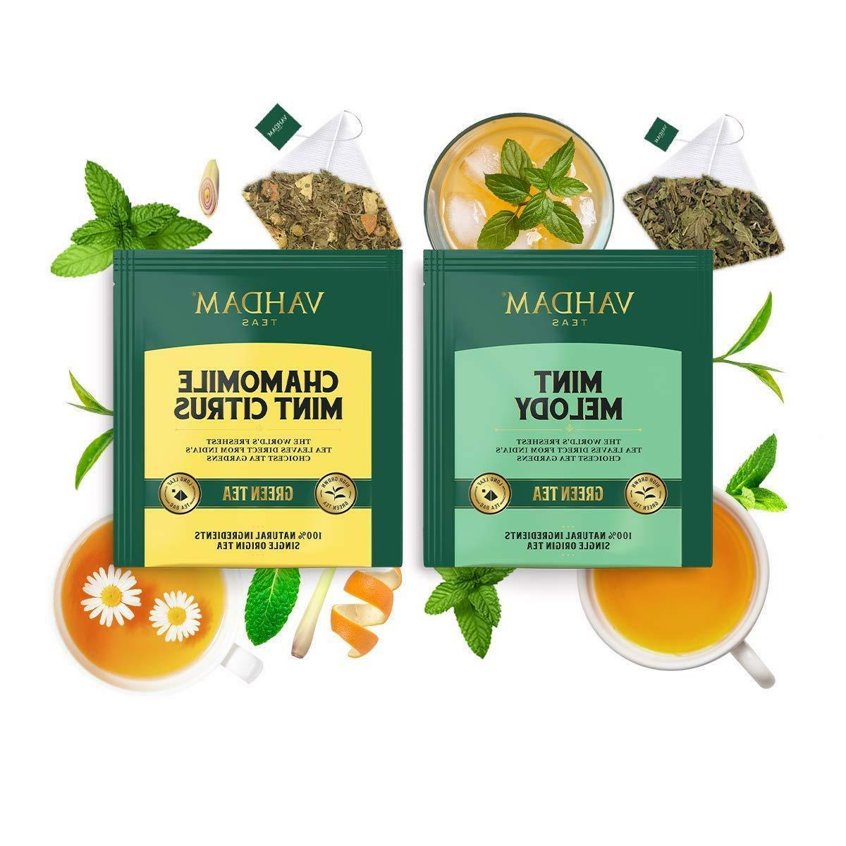 Vahdam 15 Flavor Tea Variety Pack Oolong Tea