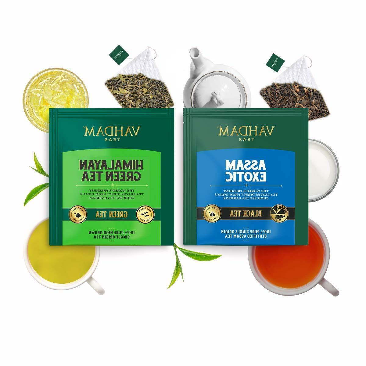 Vahdam Variety Pack Black Oolong Chai Tea