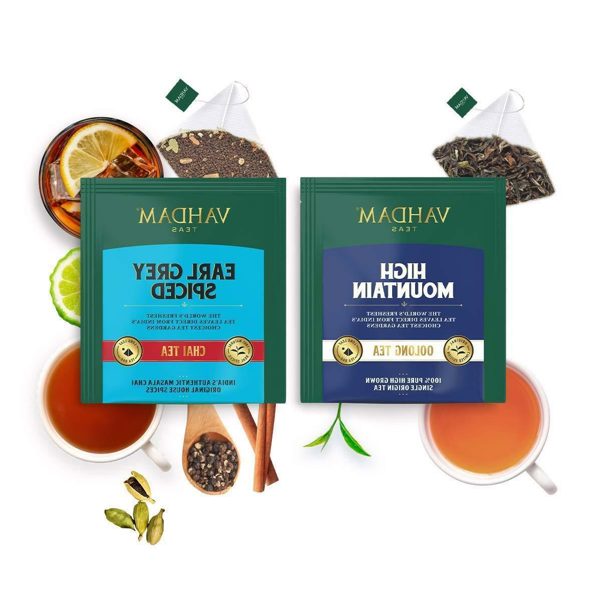 Vahdam Flavor Tea Variety Pack Oolong Tea