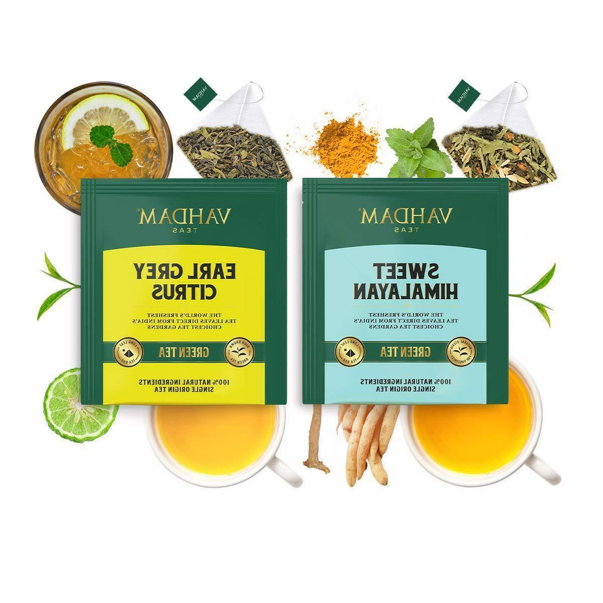 Vahdam Variety Pack Green Oolong Chai Herbal Tea