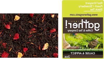 Peach & Strawberry Black Tea -Loose Leaf Flavored Black Tea-