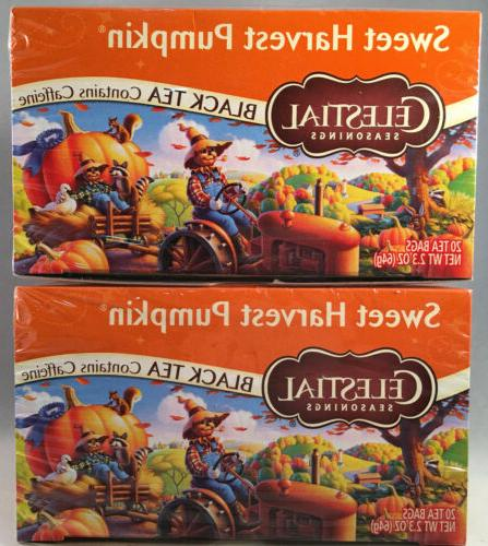 Celestial Seasonings Black Tea, Sweet Harvest Pumpkin, 20 Co