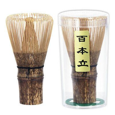 Tea Ceremony 100 Count Black Bamboo Whisk w/ Scoop Tool