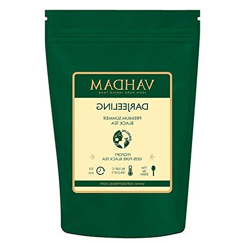 VAHDAM, Darjeeling​ Leaves​ from Himalayas 100% Certified Black Loose & Source India, 9-Ounce Bag