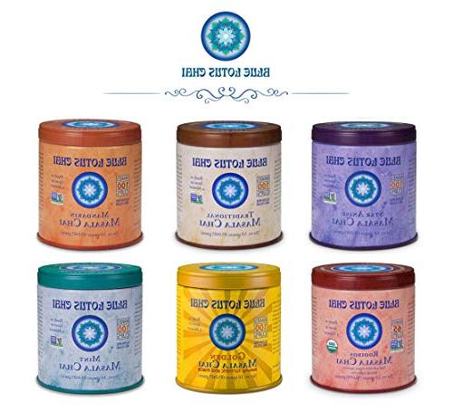 Blue Lotus Traditional Makes Cups - 3 Masala Spiced Chai Powder with Spices Tea No Gluten