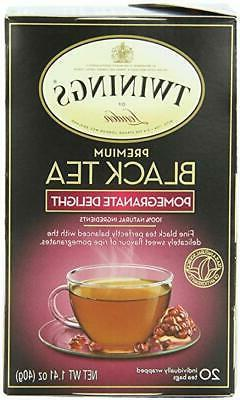 Twinings Pomegranate Delight Black Tea, 20 Bags