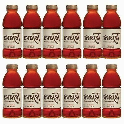Tejava Original Unsweetened Black Iced Tea, 16.9 Ounce, 12 C