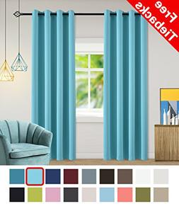 Yakamok Light Blocking Curtains for Bedroom/Living Room Ther