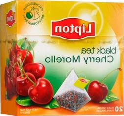 Lipton Black Tea - Cherry Morello - Pyramid tea bags-1 box -