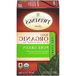 Twinings of London Organic and Fair Trade Certified Pure Gre