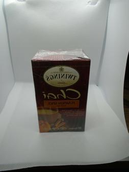 Twinings of London Pumpkin Spice Chai Tea 40 Count- 2 Boxes