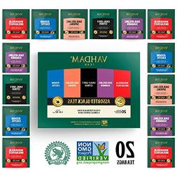 Vahdam, Black Tea Sampler, 5 Teas - Tea Variety Pack | Assor