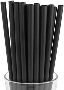 Made in USA Pack of 100 Black Jumbo Plastic Smoothie  Drinki