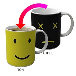 Xubox Magic Emoji Heat Changing Coffee Mug, Add Hot Liquid a