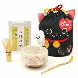 Matcha set Tea Ceremony Sadou Set Beginners Kuroneko Black J