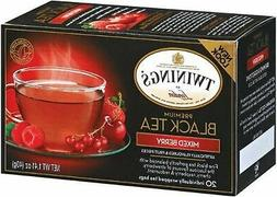 Twinings Mixed Berry Tea, Tea Bags, 20-Count Boxes