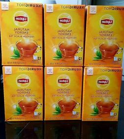 LIPTON NATURAL ENERGY PREMIUM BLACK TEA K-CUP PODS / 6 BOXES