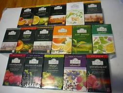 New 20PK  Ahmad Tea Black Tea Herbal Fruit Green Tea Pepperm