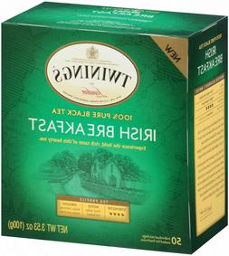 Twinings Of London Irish Breakfast Black Tea 50 Count