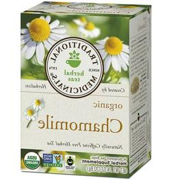 Traditional Medicinals Organic Chamomile Herbal Tea Caffeine