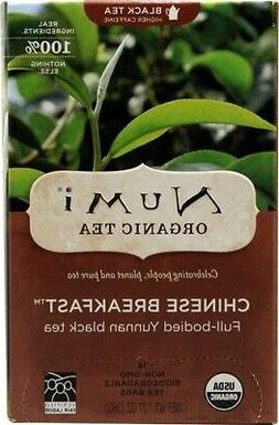 Numi Organic Tea--Chinese Breakfast, Full Leaf Black Tea, 18