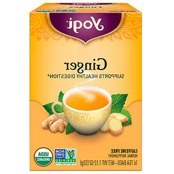 Yogi Organic Herbal Tea Caffeine Free Ginger - 16 Tea Bags
