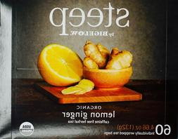 Bigelow Organic Steep Lemon Ginger Tea