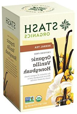 Stash Tea Organic Vanilla Honeybush Herbal Tea 18 Count Tea