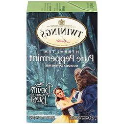 Twinings Pure Peppermint Herbal Tea with Disney's Beauty and