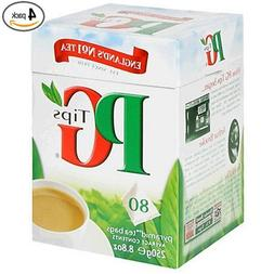 PG Tips Black Tea, Pyramid Tea Bags, 80-Count Boxes Pack of