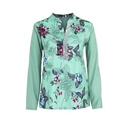 Women Plus Size Long Sleeve Blouse,V-Neck Print Long Sequine