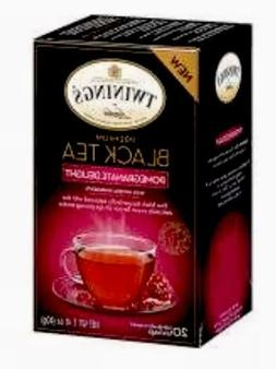 Twinings Pomegranate Delight Black Tea 20 Bags -Pack of 6