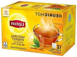 Lipton Premium Black Tea Bags, Hot or Iced Natural Energy, 4