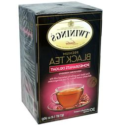 TWININGS PREMIUM BLACK TEA POMEGRANATE DELIGHT 20 Tea Bags