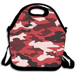 Starowas Red Black Camouflage Lunch Tote Bag Bags Awesome Lu