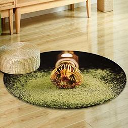 Round Area Rug Carpetchasen special bamboo matcha tea whis