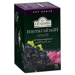 Ahmad Tea's Blackcurrant Burst Flavored Black Tea Bags - 20