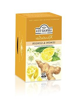 Ahmad Tea Sachet Infusion Foil-Enveloped Teabags, Lemon and
