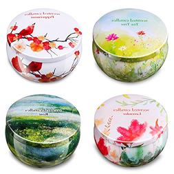 Ahyiyou Scented Candles Gift Set - Lavender, Rose, Tea Tree