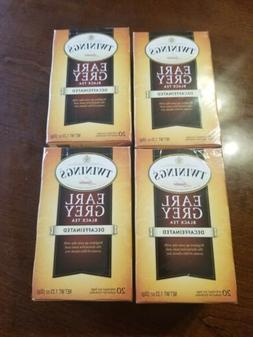 SET OF 4 Twinings of London® Earl Grey Black Tea Decaffeina